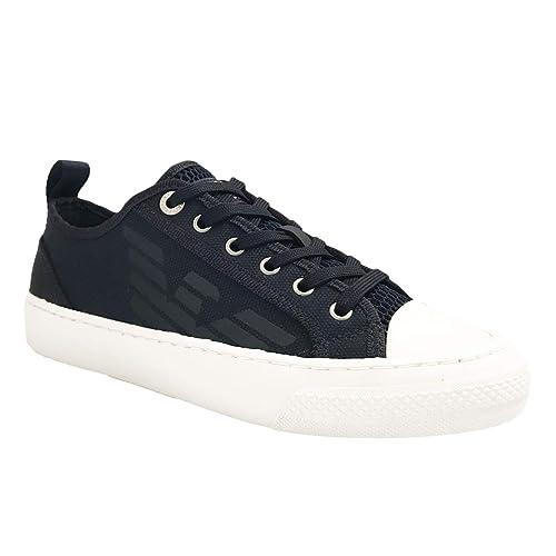 Emporio Armani - Zapatillas de Lona para Hombre: Amazon.es: Zapatos y complementos