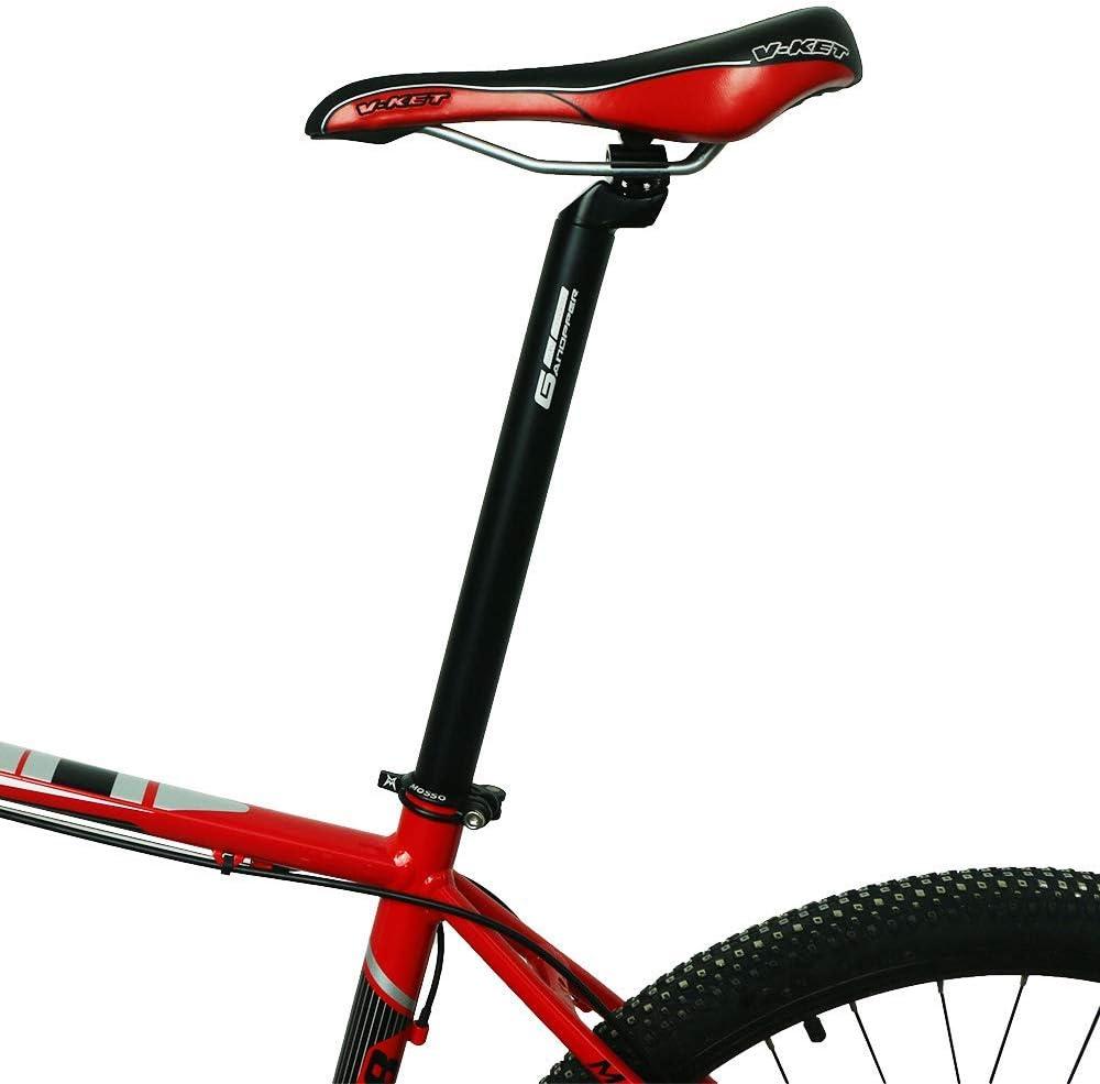 GANOPPER 450mm Long Seatpost Alloy Aluminium Micro Adjustable Head MTB Road Bicycle Seat Post 6