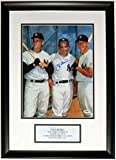 Yogi Berra with Mickey Mantle and Roger Maris Signed Yankees 11x14 Photo - PSA DNA COA Authenticated - Custom Framed & Plate