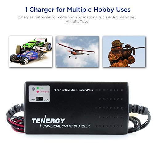 Tenergy 6V-12V Universal Battery Pack Charger for NiMH NiCd RC Car Batteries