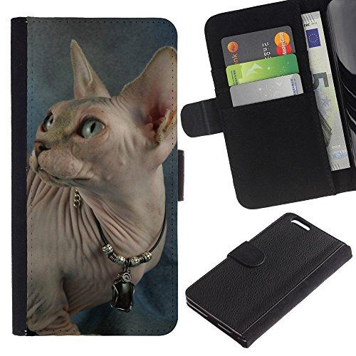 EuroCase - Apple Iphone 6 PLUS 5.5 - peterbald donskoy sphynx hairless cat - Cuero PU Delgado caso cubierta Shell Armor Funda Case Cover