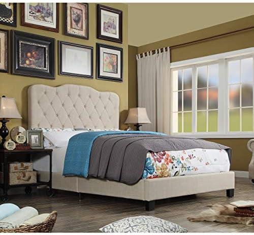 Millbury Home Elian Linen Upholstery Platform Bed