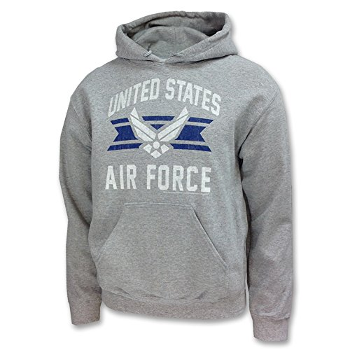 Air Force Hoodie Sweatshirt (Armed Forces Gear Men's Air Force Vintage Basic Hooded Sweatshirt, Large)