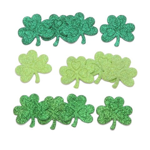 72 St. Patrick's Day Themed Shamrock Peel Off Foam Stickers~Arts & Crafts~Scrap booking~School]()