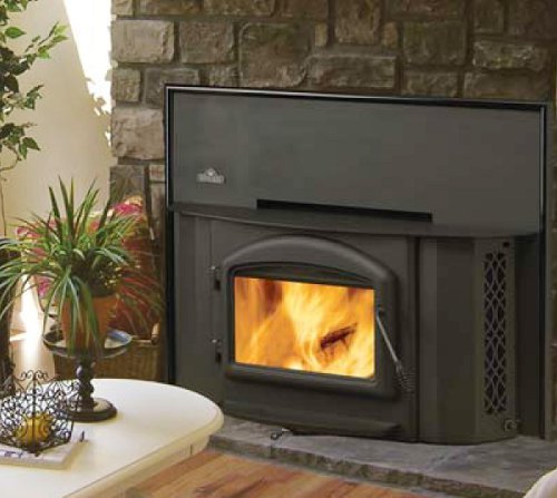 Rockford Chimney Supply Napoleon 1402 Wood Burning Fireplace Insert with Heat Circulating Blower