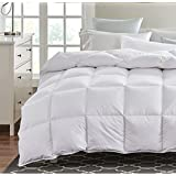 Royal Linen King Duvet Insert Hypoallergenic Down Comforter White Duck Down Feather Medium Weight 100% Cotton Shell 300 Thread Count