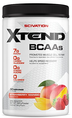 Scivation Xtend BCAA Powder, Branched Chain Amino Acids, BCAAs, Strawberry Mango, 30 Servings 13.7 - Vitamins Apple Strawberry