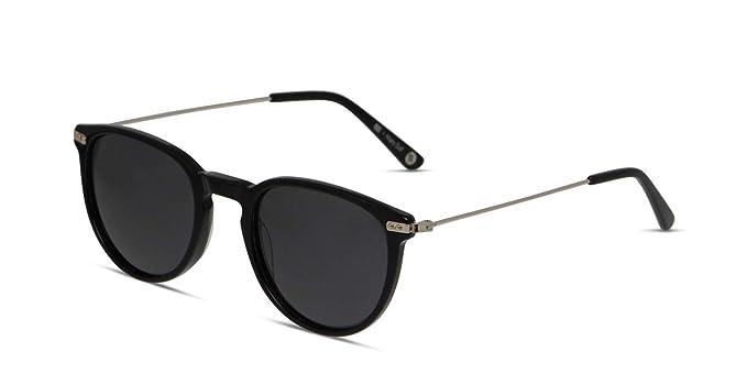 442414e245e7 Hilary Duff Muse Colette Black Shiny Black Round Sunglasses Online
