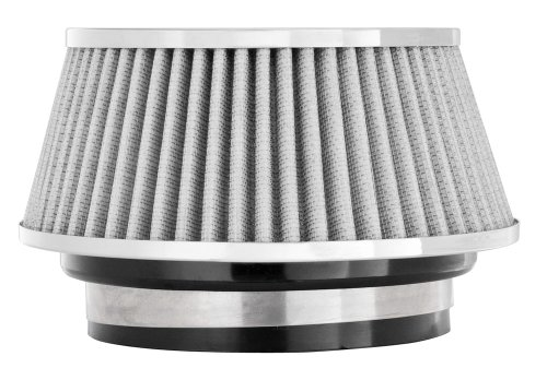 Spectre Performance 8168 Universal Clamp-On Air Filter: Round Tapered; 3 in/3.5 in/4 in (102 mm/89 mm/76 mm) Flange ID; 2.625 in (67 mm) Height; 6 in (152 mm) Base; 4.75 in (121 mm) Top by Spectre Performance