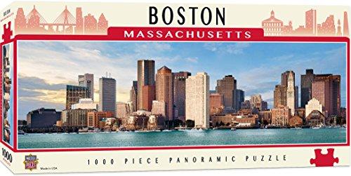 MasterPieces Cityscapes Panoramic Jigsaw Puzzle, Boston Harbor, Massachusettes, Photographs by Jon Holiday, 1000 - Puzzle Boston