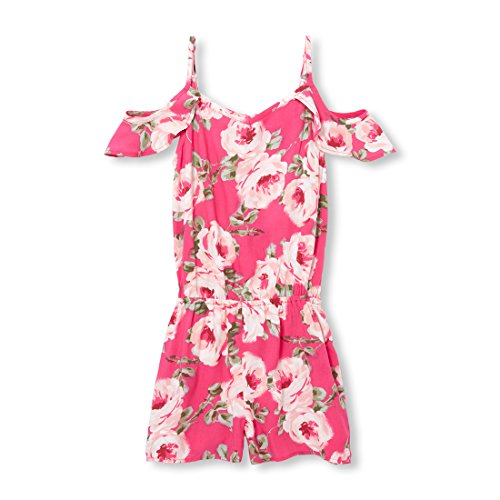 The Children's Place Big Girls' Floral Woven Romper, Sweet Princess, S (5/6) by The Children's Place