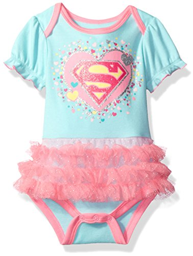 Warner Brothers Baby Girls' Supergirl Bodysuit Tutu, Green, 0/3M