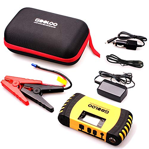 GOOLOO 1000A Peak 20800mAh SuperSafe Car Jump Starter with USB Quick Charge 3.0 (Up to 8.0L Gas, 6.0L Diesel Engine) 12V Auto Battery Booster Portable Charger Power Pack Built-in Smart Protection by GOOLOO (Image #7)
