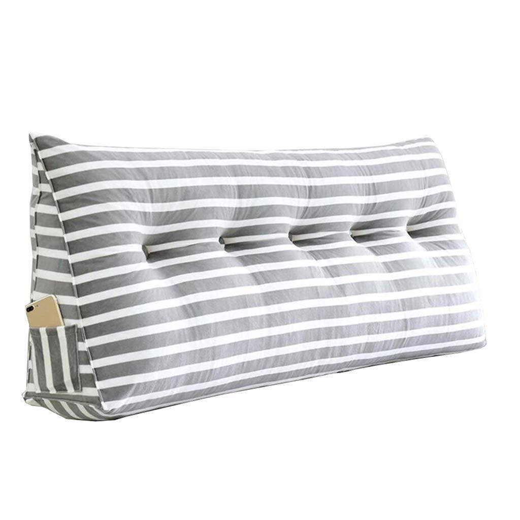 Uus Cuscino da Comodino Testata, Pads Cloth Art Grande Posteriore Triangolare Soft Case Multifunzione in Vita (8 Colorei, 8 Taglie) Pillow (colore   F, Dimensioni   180×20×50cm)