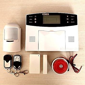 ALARMA PARA CASA HOGAR NEGOCIO GSM INALAMBRICA MOVIL CON PANTALLA TECLADO LCD CON MANUAL Y VOCES EN CASTELLANO ESPAÑOL DE FACIL INSTALACION CARTEL ...