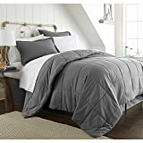 Comforter Sets Premium Queen Size Set in 8 Piece Adult Luxury Elegant Design (Gray)