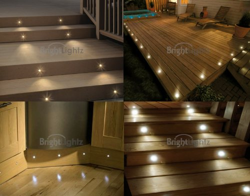 Set of 10 waterproof led warm white deck lights decking plinth kitchen lighting