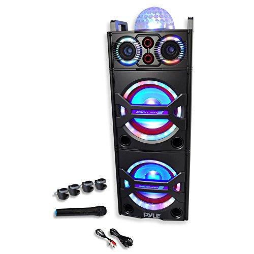 Pyle PSUFM1043BT Bluetooth PA Loudspeaker Karaoke Entertainment System, Wireless Mic by Pyle (Image #3)