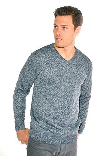 US Icon Men's Fashion V-Neck (X-Large, Blue) (Icon V-neck)