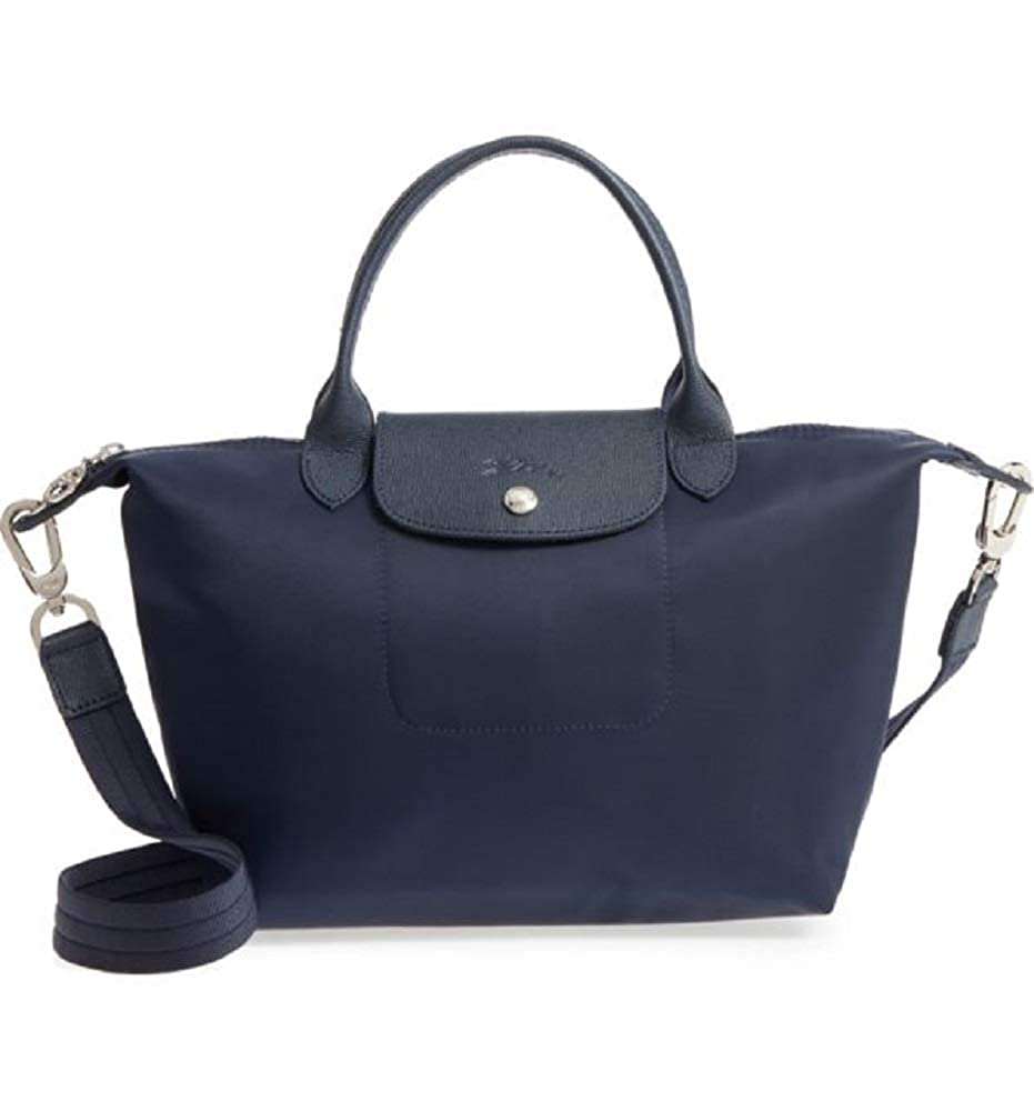 807d6a11b6e5 Amazon.com  LongChamp Women s Le Pliage Small Neo Nylon Top Handle Tote  Navy  Shoes