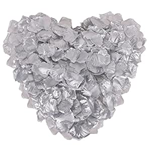 Ablest 1000 Pcs Wedding Bridal Shower Decoration Artificial Silk Flower Petals, Silver 41