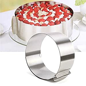Stainless Steel Round cake mold 6 inch -12 inch adjustable separated the circular cake mold tool