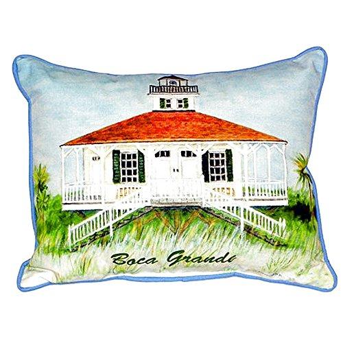 Betsy Drake SN726 Boca Grande Lighthouse Pillow, 11
