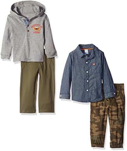 Carter's Boys' 4-Piece Buttondown Shirt, and Pant Set