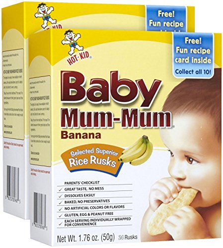 Mum Mum Rice Biscuits - Banana - 1.76 Oz - 2 Pk