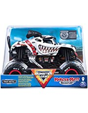 Monster Jam, Official Monster Mutt Dalmatian Monster Truck, Die-Cast Vehicle, 1:24 Scale