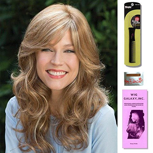 Brittany by Amore Wigs, Wig Cap Liner, Wig Comb and Wig Galaxy Booklet. (4- Item Bundle) (MAPLE SUGAR) ()