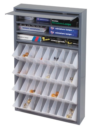 Durham 590-95 Gray Cold Rolled Steel Tilt-Out Tray Dispensing Cabinet, 19'' Width x 26-3/4'' Height x 4'' Depth by Durham