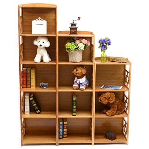 Bamboo 12-Cube Storage Unit,shelf by MUGIAZII