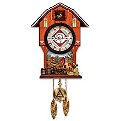 Allis Chalmers Farm Cuckoo Clock with Logo and Dave Barnhouse Farm Imagery by The Bradford Exchange