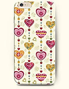 iPhone 6 Plus Case 5.5 Inches Love shaped Curtain - Hard Back Plastic Case OOFIT Authentic by icecream design