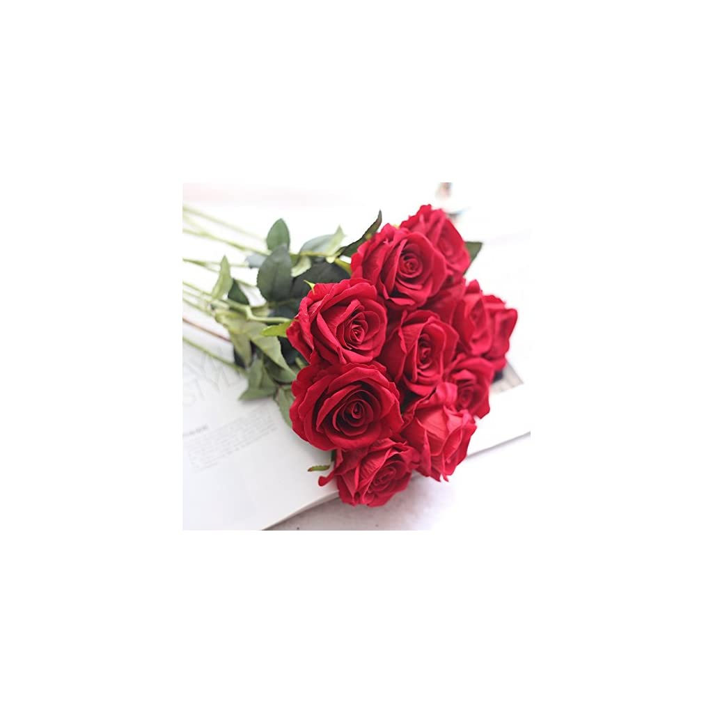 Supla-10-Bouquet-Artificial-Rose-Real-Touch-Flower-Bridal-Decoration-Fake-Flower-Faxu-Rose-For-Home-Wedding-Decor