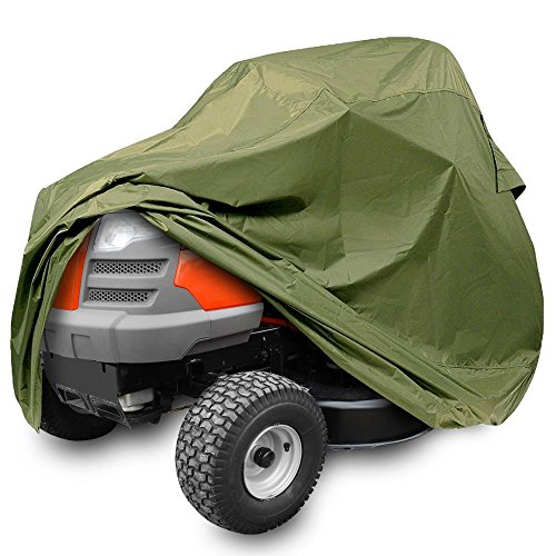 - Universal Lawn Tractor Mower Cover - Armor Shield Waterproof Marine Grade Canvas, Weather Resistant with Mildew and Dust Protection - Indoor and Outdoor Protective Storage - Pyle PCVLTR11 (Green)