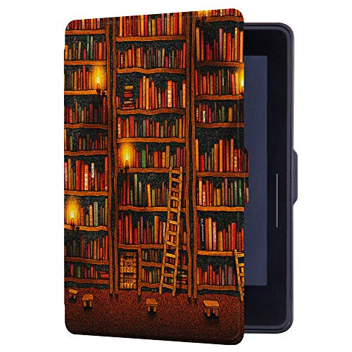 Huasiru Painting Case for Amazon Kindle Voyage Cover with Auto Sleep/Wake, Library by HUASIRU