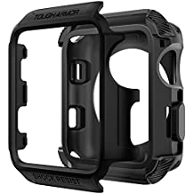Spigen Tough Armor [2nd Generation] Apple Watch Case with Extreme Heavy Duty Protection and No Built in Screen Protector for 42mm Apple Watch Series 3 / Series 2 / Nike+ Sport Edition - Matte Black