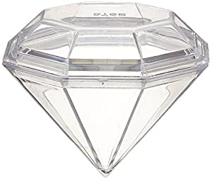 Firefly Imports Fillable Plastic Diamond Shaped Container, 12 Pack