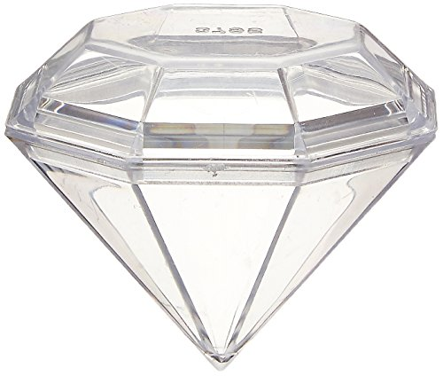 (Firefly Imports Fillable Plastic Diamond Shaped Container,)