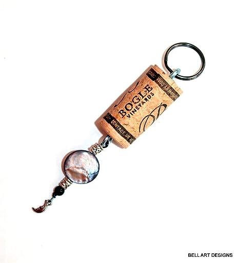 Amazon.com: Llavero de corcho de vino, diseño de campana ...