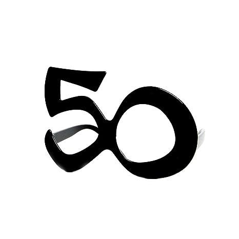 Forum Novelties 68033 - Gafas de cumpleaños (50 Unidades), Color Negro
