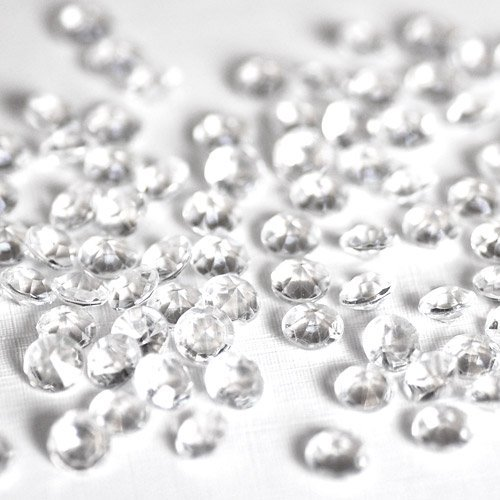 1000 4.5mm Clear Table Diamonds - 1/3 carat Acrylic Scatter Crystals - supplied with their own White Organza Bag Weddingandpartystore