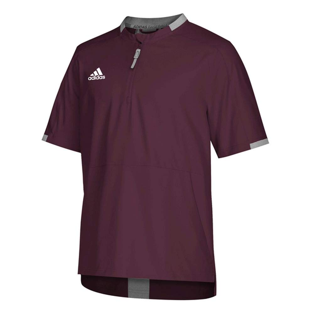 adidas Fielders Choice 2.0 Cage Jacket - Men's Baseball S Maroon/Core Heather by adidas