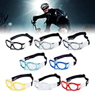 Goggles Sports Glasses with Adjustable Elastic Wrap Strap Safety Eyewear Glasses for Soccer Basketball Motorcycle Outdoor Sports