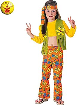 Rubies - Disfraz de hippie para niña, 5-7 años (38692-M): Amazon ...