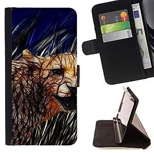 Momo Phone Case / Flip Funda de Cuero Case Cover - Cat Cougar felina Naturaleza Animales Salvajes - Motorola Moto E ( 1st Generation )