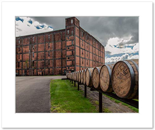 Whiskey Barrels Wall Art, Buffalo Trace Bourbon Distillery Rickhouse Decor, 8x10 Matted Photographic Print