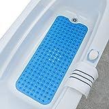 SlipX Solutions Extra Long Vinyl Bath Mat (Blue, 90cm X 40cm)